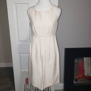 Max and Cleo Ivory & Beige Dress Size 4